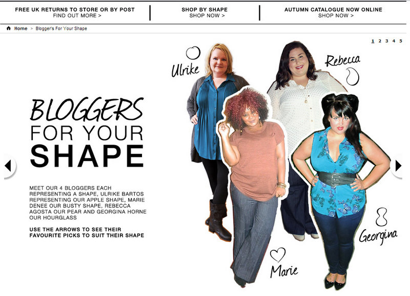 Evans' Blogger's For Your Shape Campaign